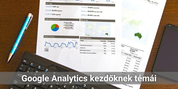 Google Analytics kezdőknek témái